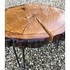 Unieke eikenhouten salontafel/bijzettafel met epoxy
