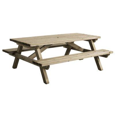 Picknicktafel van hout - 160x200cm