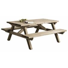 Picknicktafel van hout - 160x180cm