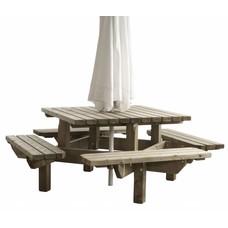 Picknicktafel vierkant 195 x 195 cm