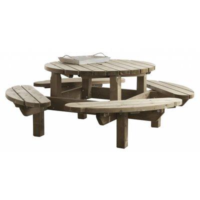 Picknicktafel rond 210 cm