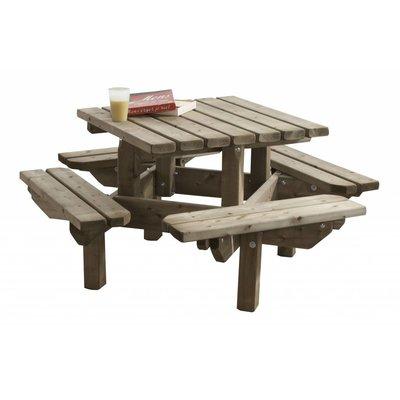 Kinderpicknicktafel vierkant 125 x 125 cm