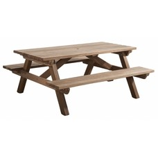 Picknicktafel hardhout 160x180 cm