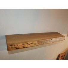 Eikenhouten plank met blind ophangsysteem