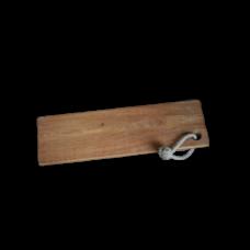 Eikenhouten serveerplank met touw