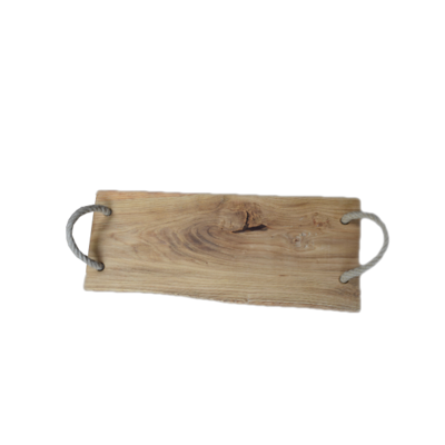 Eikenhouten serveerplank met handvatten