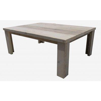 Salontafel van gebruikt steigerhout
