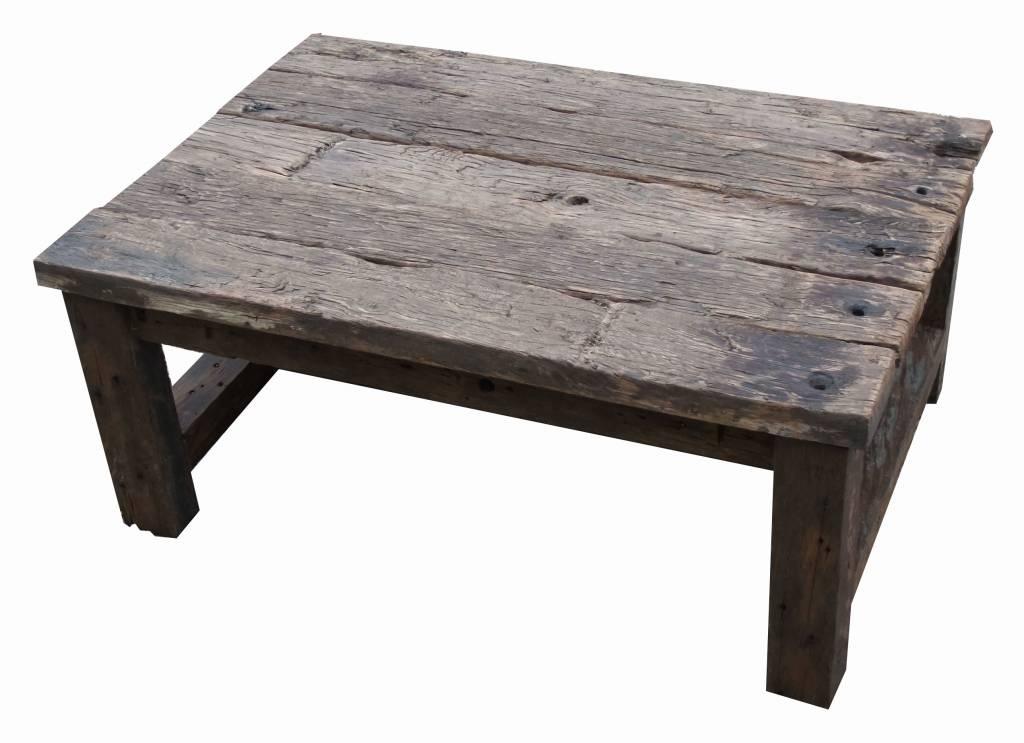 Houten Salon Tafel : Maximavida luxe salontafel set zwart mahonie houten blad zwart