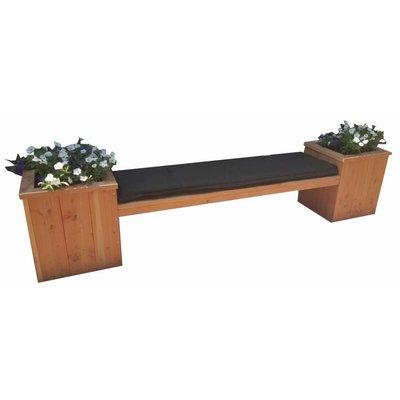 Bankje met bloembak van douglas hout