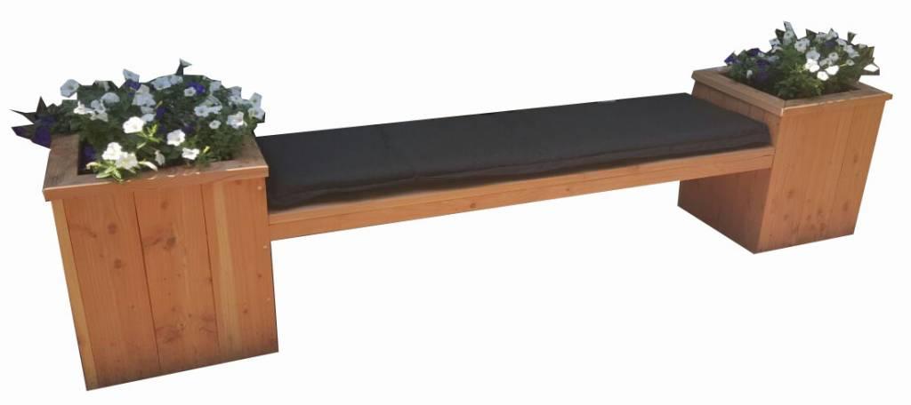 Verwonderend Bankje met bloembak van douglas hout - Leefhuus GL-37