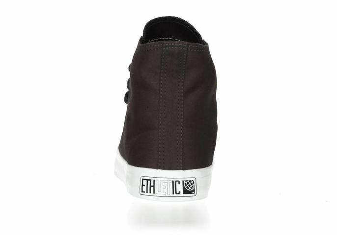 Ethletic Fair Trainer  White Cap Hi Cut Collection 17 Pewter Grey | Just White