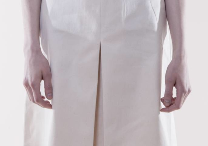 Ethletic Fair Skirt `Noor` Off White