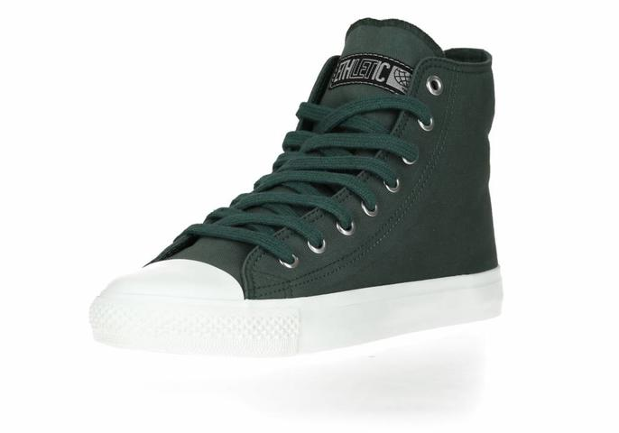 Ethletic Fair Trainer  White Cap Hi Cut Collection 17 Reseda Green | Just White
