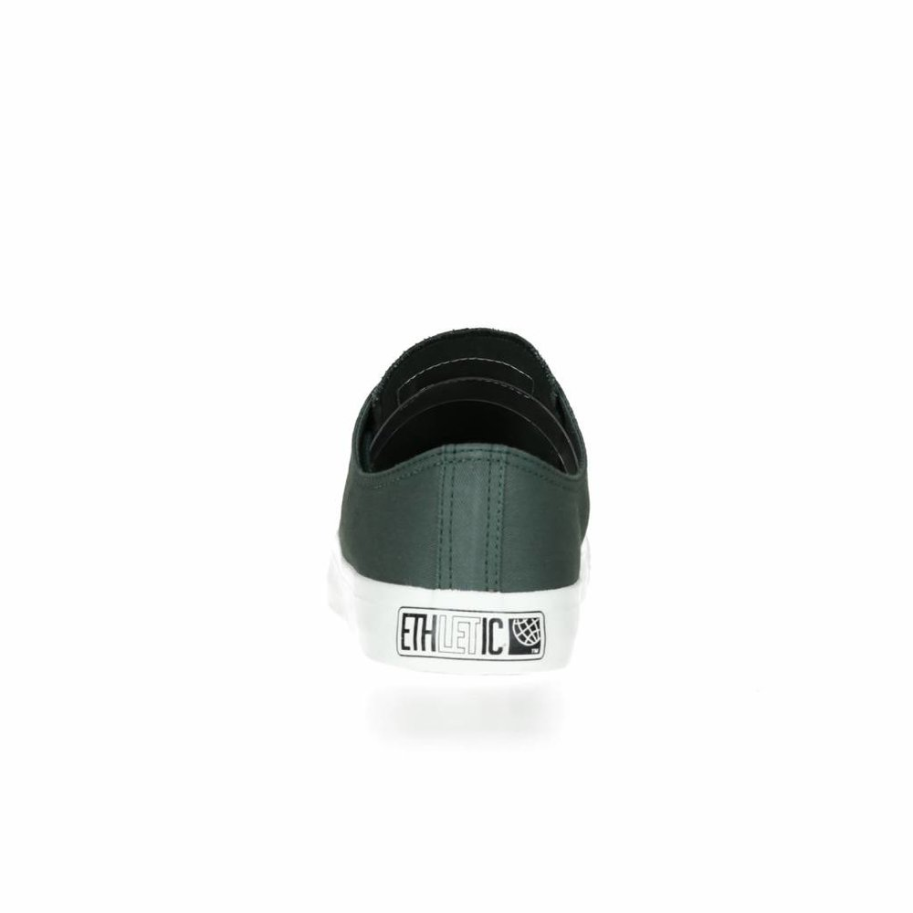 Ethletic Fair Trainer  White Cap Lo Cut Collection 17 Reseda Green | Just White