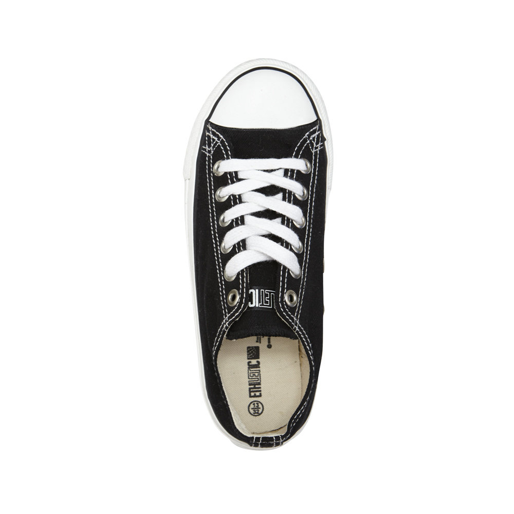 Ethletic Kids Lo Cut Classic Funky_Black | Just White