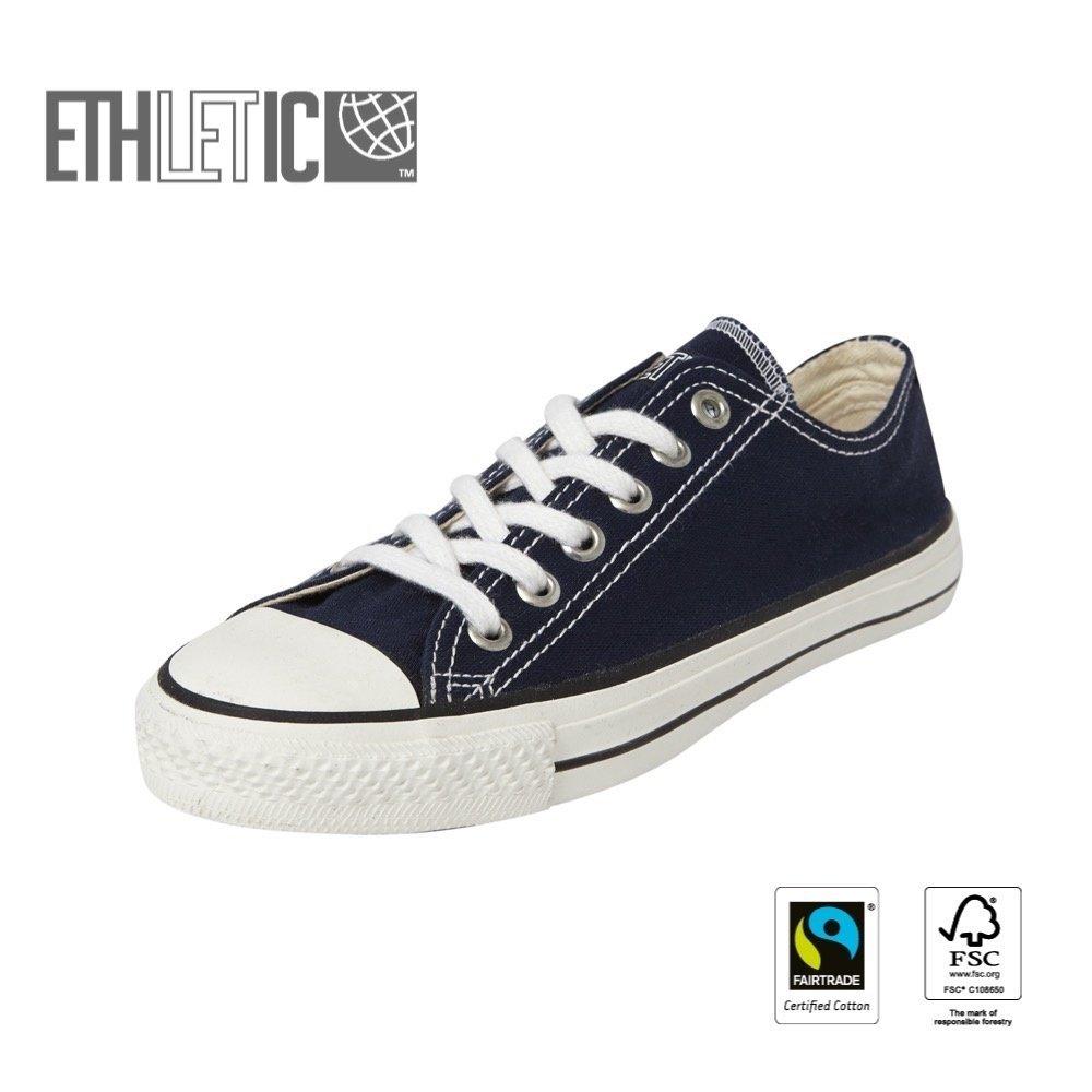 Ethletic Kids Lo Cut Classic Ocean Blue | Just White