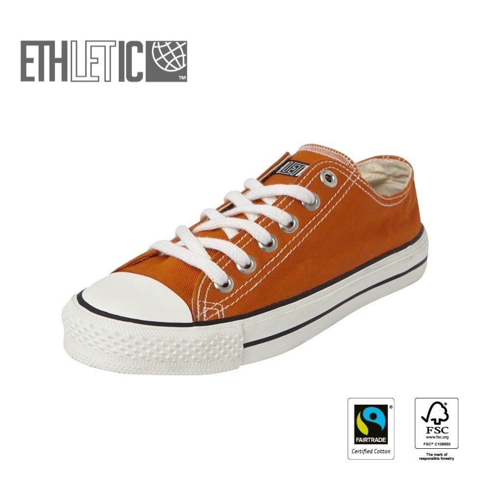 Ethletic Kids Lo Cut Classic Mandarin Orange | Just White