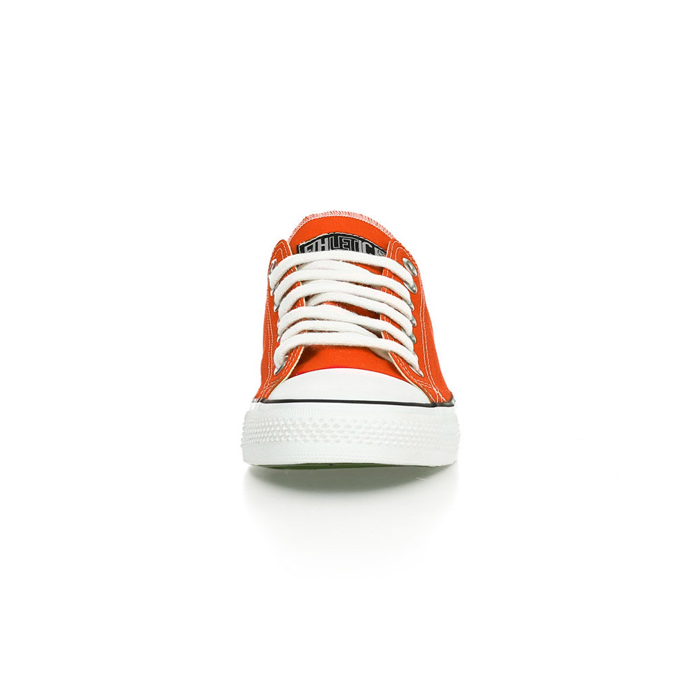 Ethletic Fair Trainer White Cap Lo Cut Edition Mandarin Orange | Just White