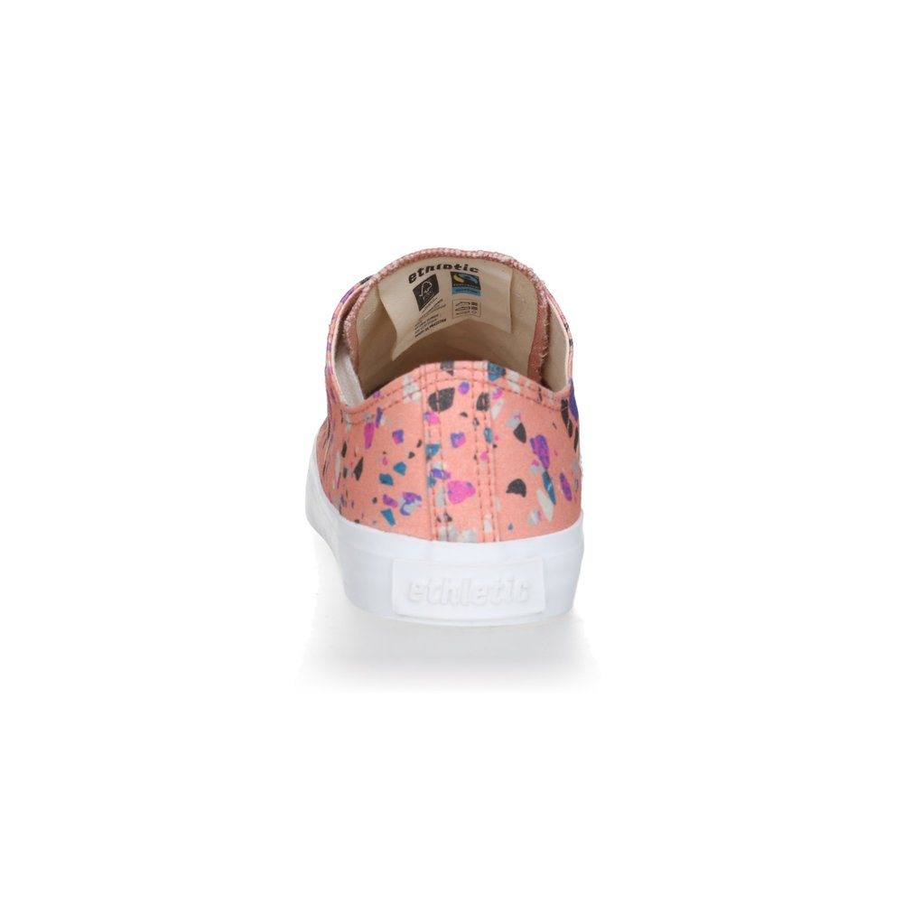 Ethletic Fair Trainer  White Cap Lo Cut Collection 18 Terrazzo Rose | Just White