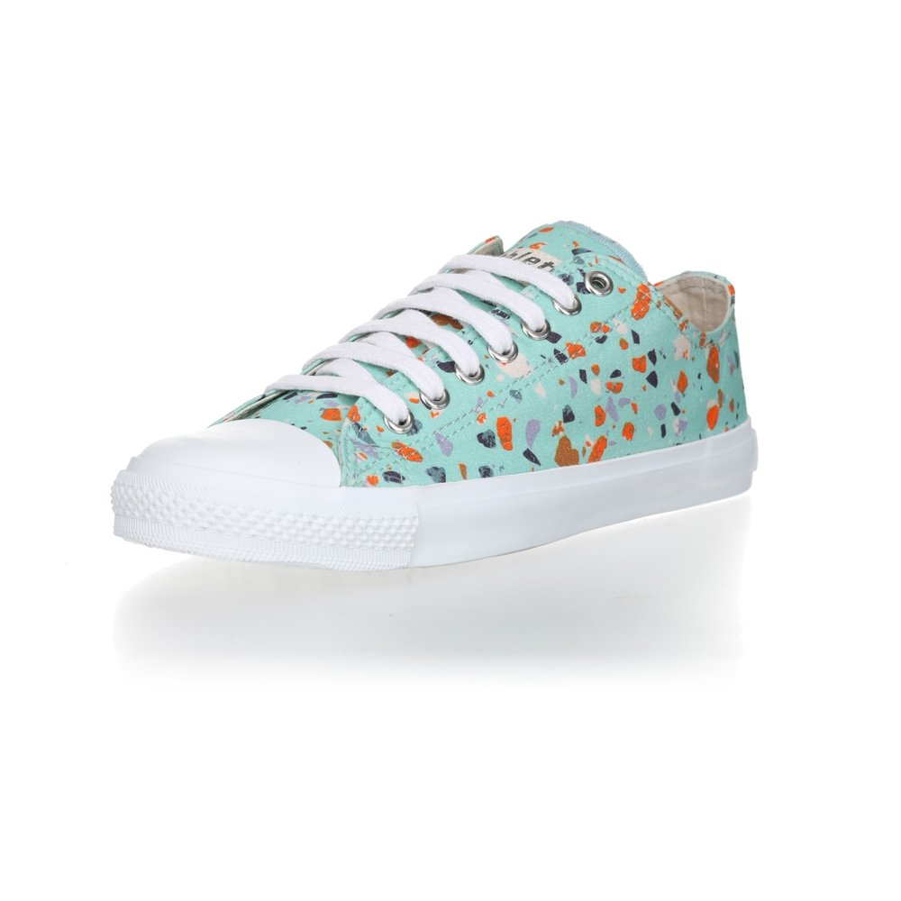 Ethletic Fair Trainer  White Cap Lo Cut Collection 18 Terrazzo Spearmint | Just White