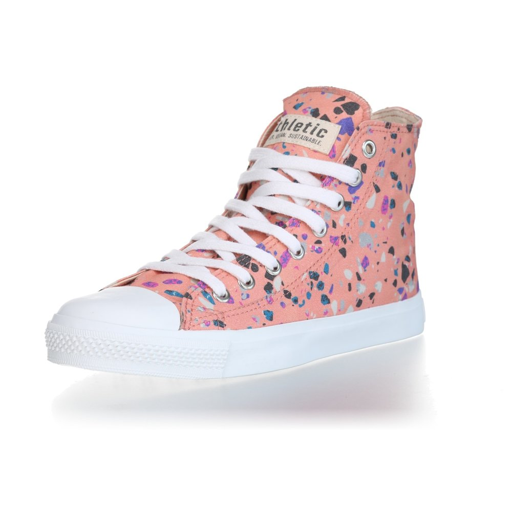 Ethletic Fair Trainer  White Cap Hi Cut Collection 18 Terrazzo Rose | Just White