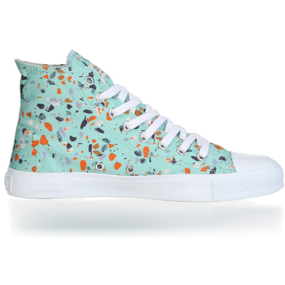 Ethletic Fair Trainer  White Cap Hi Cut Collection 18 Terrazzo Spearmint | Just White