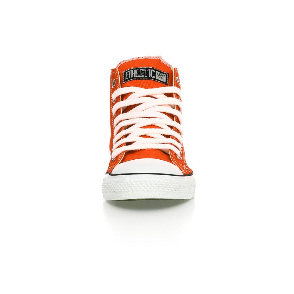Ethletic Fair Trainer White Cap Hi Cut Collection 15 Mandarin Orange | Just White