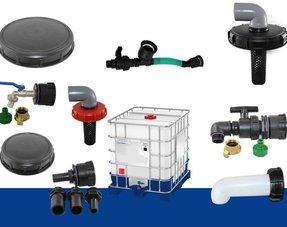 Zubehör, Adapter und Anschlüsse für IBC Tanks/ Container