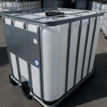 IBC Tank, 1000L, Regenwassertank auf Stahl/ PE-Palette