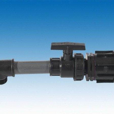 """IBC Adapter, Grobgewinde S60x6 mit Kugelhahn 1""""AG #13"""