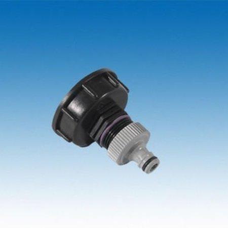 "IBC Adapter, Grobgewinde S60x6 x 1"" AG, inkl. Kupplung, GARDENA kompatibel #H25G"