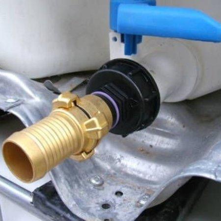 IBC Adapter, Grobgewinde S60x6 mit 32mm Schlauchtülle, GEKA kompatibel #H5G