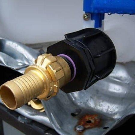 IBC Adapter, Grobgewinde S60x6 mit 25mm Schlauchtülle, GEKA kompatibel #4G