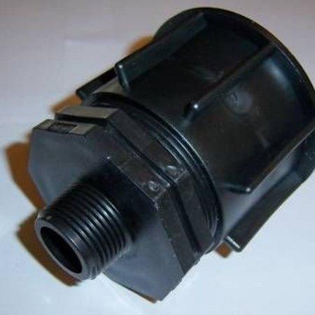 "IBC Adapter, Grobgewinde Reduzierung S60x6 IBC x 3/4"" AG #1300"