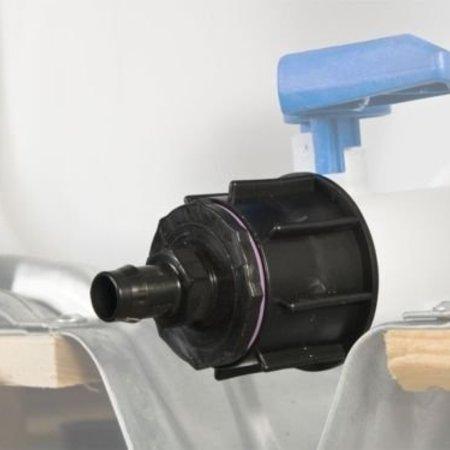 IBC Adapter, Grobgewinde S60x6, inkl. 19mm Schlauchtülle #21