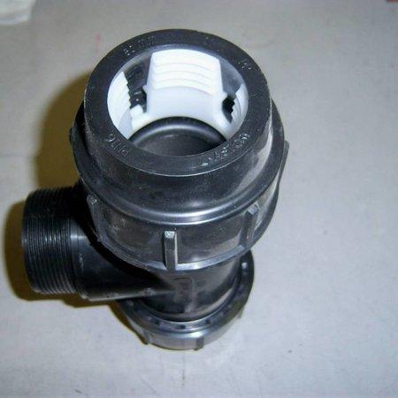 """PP Klemmverbindung T-Stück, 2""""AG x 50mm #401"""
