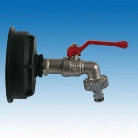 IBC Adapter, Grobgewinde S100x8 mit Kugelhahn, GARDENA-Kompatibel #Z15G