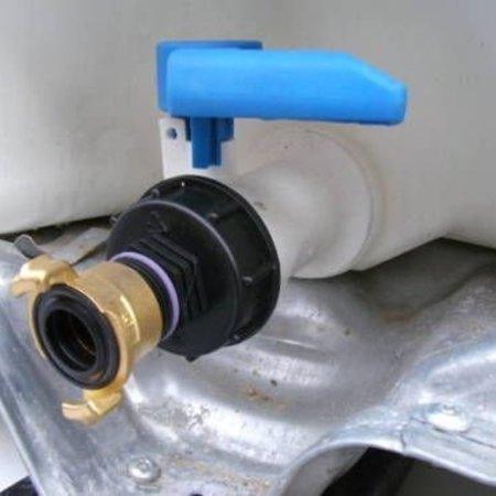 IBC Adapter, Grobgewinde S60x6 mit Schnellkupplung GEKA-System #H2G