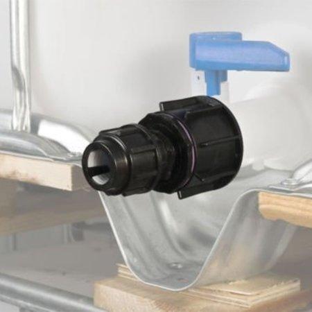 IBC Adapter, Grobgewinde S60x6 für 20mm Rohre KLEMMVERBINDUNG #1700
