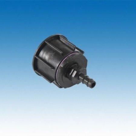IBC Adapter, Grobgewinde S60x6 mit 12 mm Schlauchtülle #20