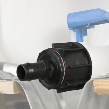 IBC Adapter, Grobgewinde S60x6 mit 32 mm Schlauchtülle #24