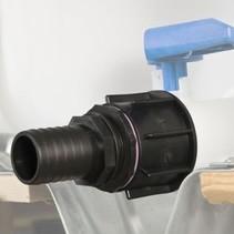 IBC Adapter, S60 x 6 mit 38 mm Schlauchtülle #23