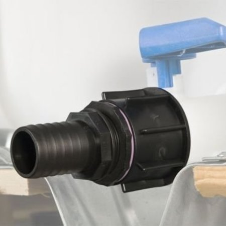 IBC Adapter, Grobgewinde S60x6 mit 38 mm Schlauchtülle #23