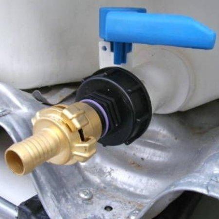 IBC Adapter, Grobgewinde S60x6 mit 19 mm Schlauchtülle GEKA #H3G