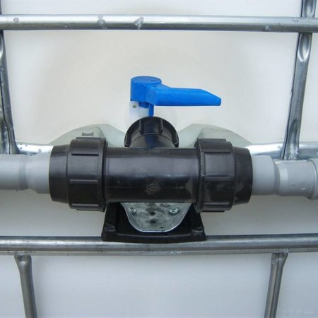 IBC Adapter, Feingewinde für 50 mm Rohre T-Stück KLEMMVERBINDUNG #F1401