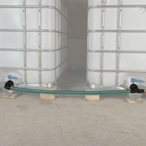 IBC Tankverbindung S100x8 mit Schlauch nebeneinander ohne Hahn #Z50TVS