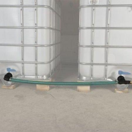 IBC Tankverbindung, mit Schlauch nebeneinander ohne Hahn S100x8 #Z50TVS