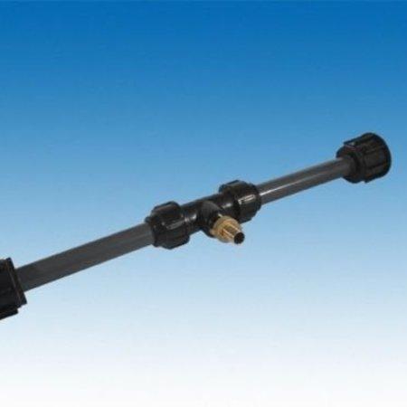 IBC Tankverbindung mit Rohr gegenüber für S100x8 ohne Hahn #Z85 TVG