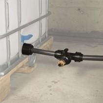 IBC Tankverbindung S100x8 mit Rohr gegenüber  #Z86 TVGMA
