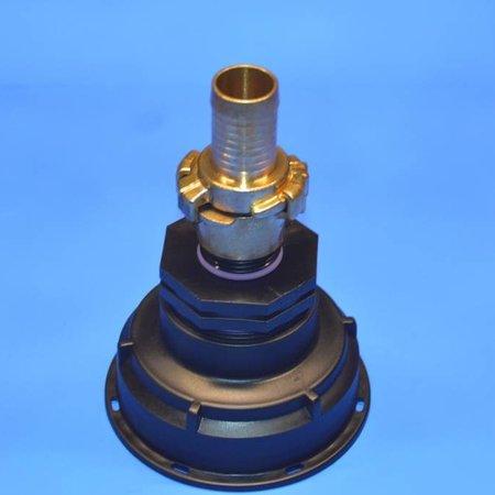 IBC Adapter, Grobgewinde S100x8 mit 25 mm Schlauchtülle GEKA #Z4G